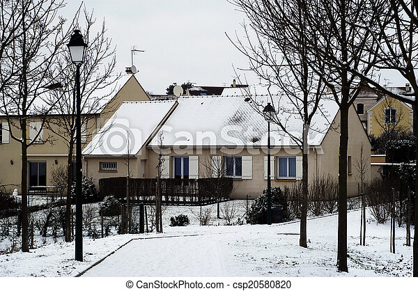 residential area in winter - csp20580820