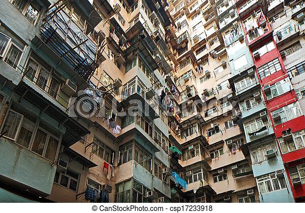 Residential building in Hong Kong - csp17233918