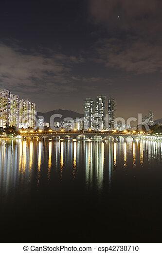 Residential building in Hong Kong - csp42730710