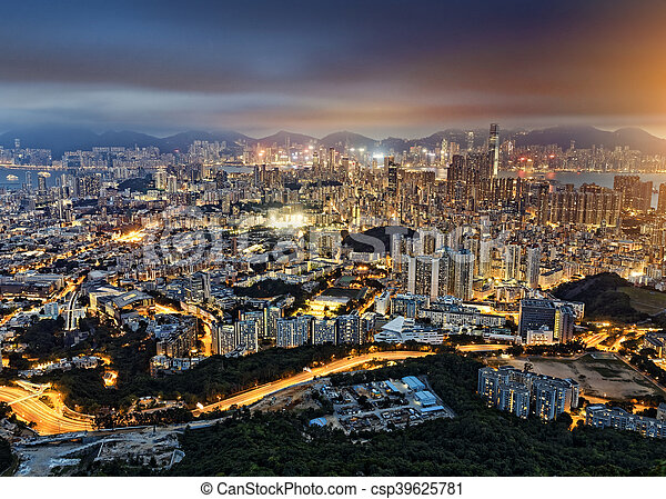 Residential building in Hong Kong - csp39625781