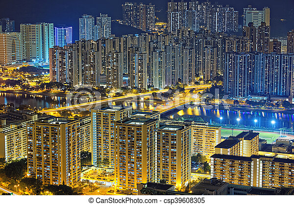 Residential building in Hong Kong - csp39608305