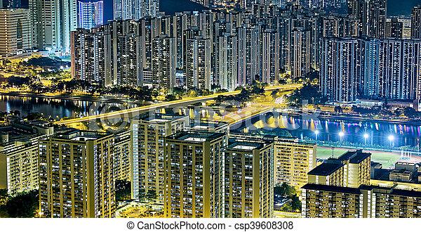 Residential building in Hong Kong - csp39608308