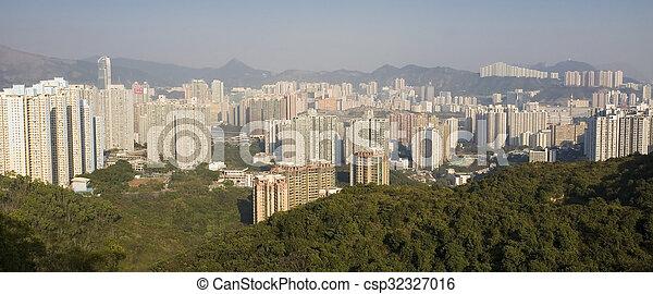Residential buildings in Hong Kong - csp32327016