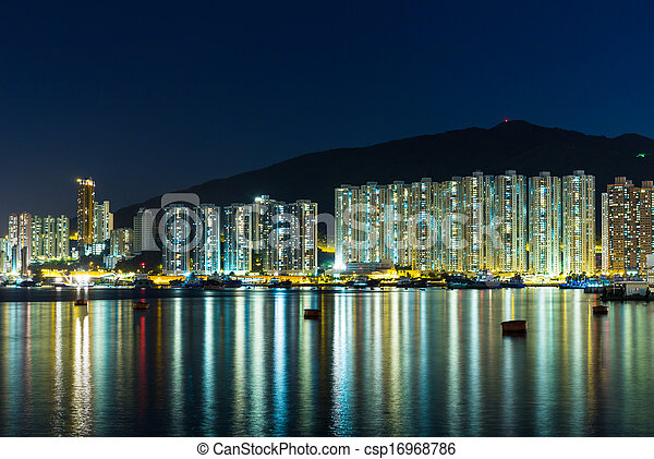 Residential district in Hong Kong - csp16968786