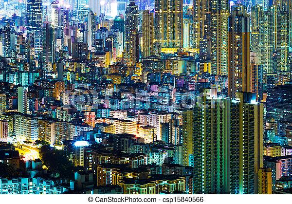 Residential district in Hong Kong - csp15840566