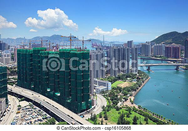 Residential district in Hong Kong - csp16105868