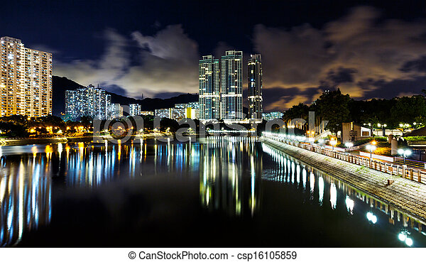 Residential district in Hong Kong - csp16105859