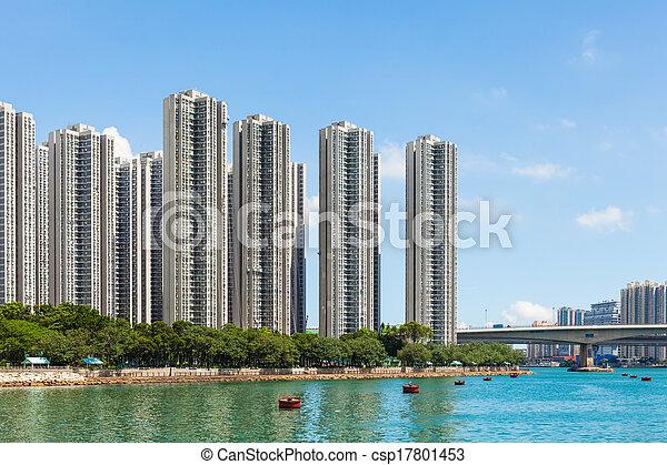 Residential district in Hong Kong - csp17801453