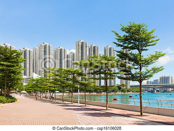 Residential district in Hong Kong - csp16106028