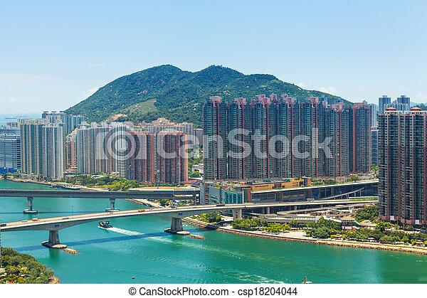 Residential district in Hong Kong - csp18204044