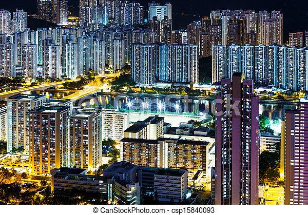Residential district in Hong Kong - csp15840093
