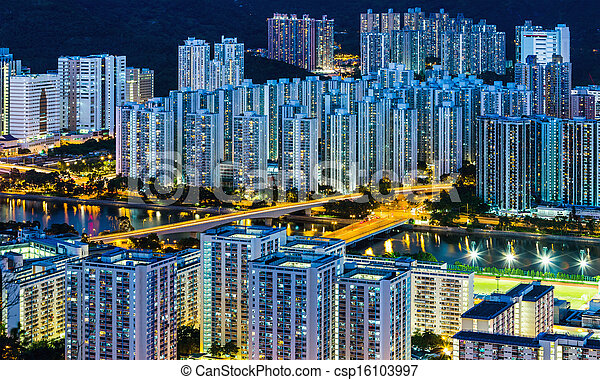 Residential district in Hong Kong - csp16103997