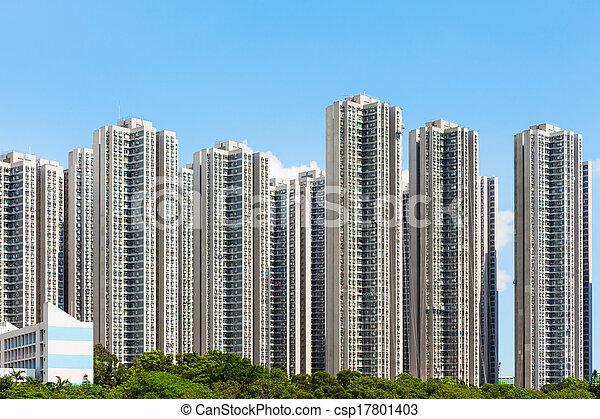 Residential district in Hong Kong - csp17801403