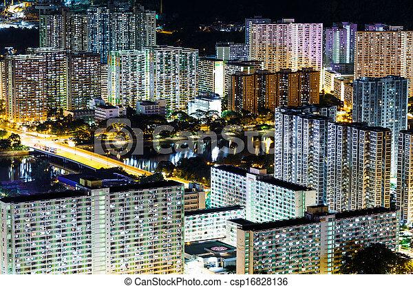Residential district in Hong Kong - csp16828136
