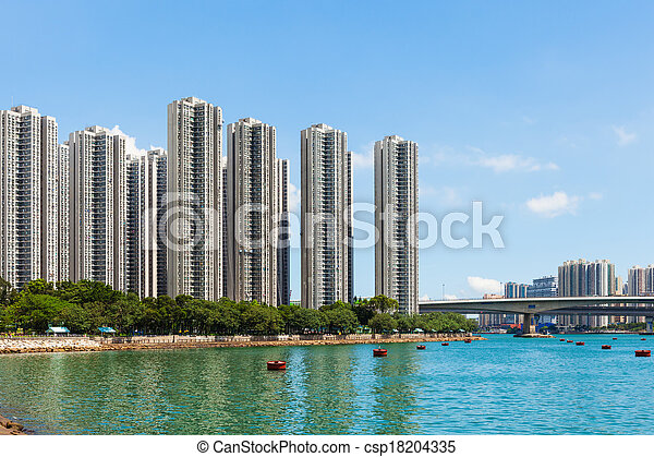 Residential district in Hong Kong - csp18204335