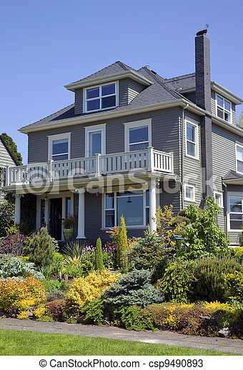 Residential house, Portland OR. - csp9490893