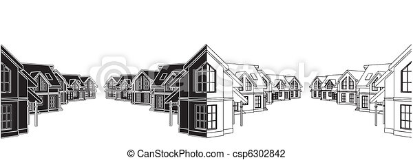 Residential Houses - csp6302842