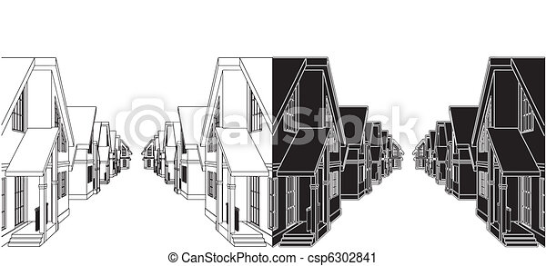 Residential Houses - csp6302841