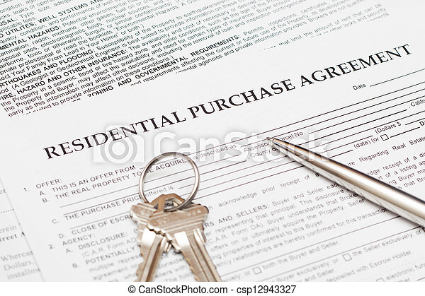 Residential Purchase Agreement Stock Photo  Search Pictures And