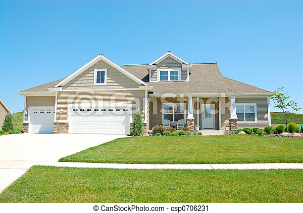 Residential Upscale American House - csp0706231