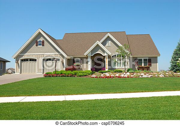Residential Upscale American House - csp0706245