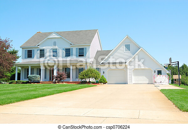 Residential Upscale American House - csp0706224