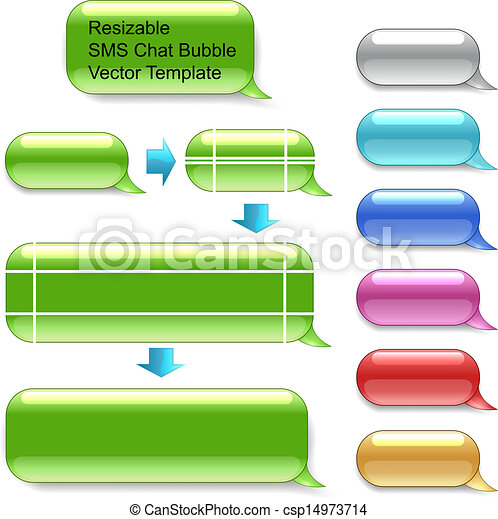 Resizable SMS chat vector template - csp14973714