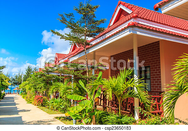 Resort hotel and bungalow and home  - csp23650183
