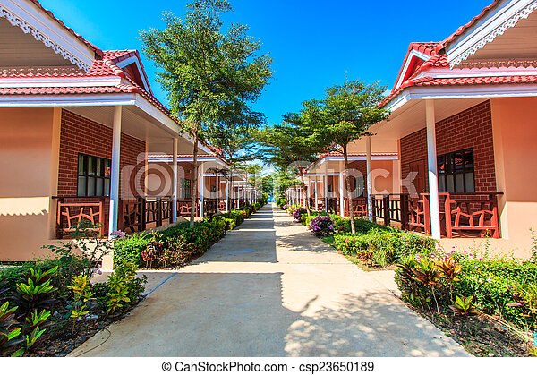 Resort hotel and bungalow and home  - csp23650189