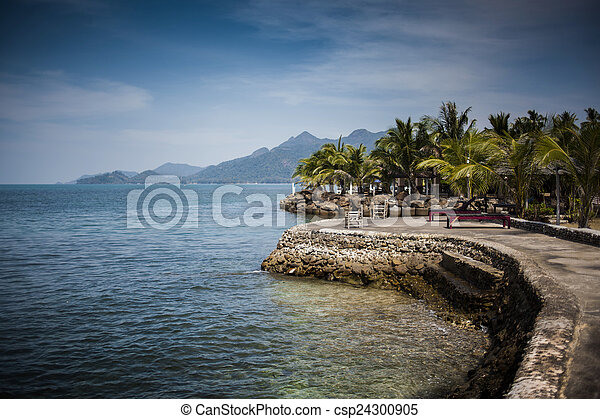 Resort on the tropical sea - csp24300905