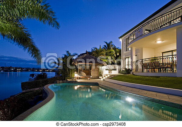 Resort style living - csp2973408