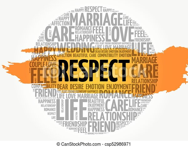 Respect circle word cloud collage concept background ...
