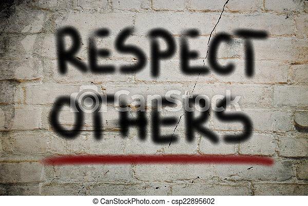 respect, concept, autres - csp22895602