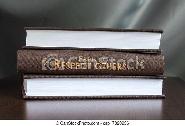 respect, concept., livre, others., apprendre - csp17820236
