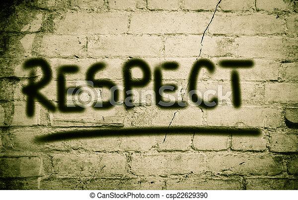 respect, concept - csp22629390
