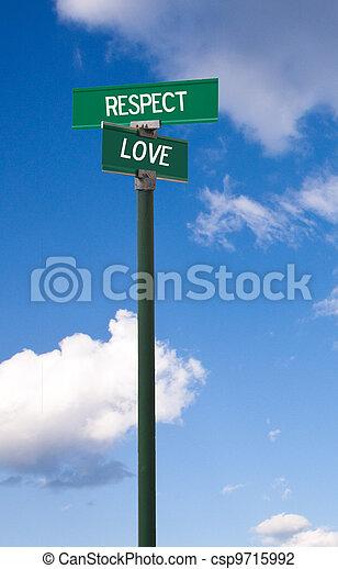 Respect-Love Sign - csp9715992