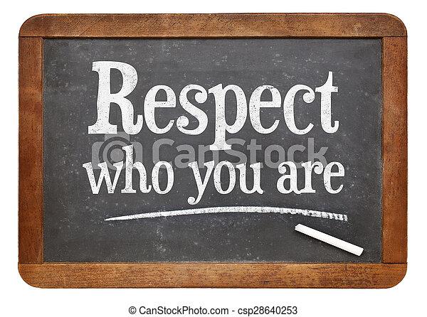 respect, tableau noir, vous - csp28640253