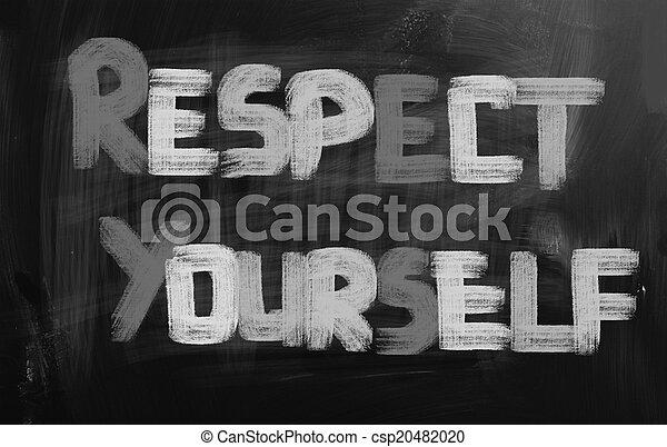 Respect Yourself Concept - csp20482020