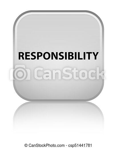 Responsibility special white square button - csp51441781