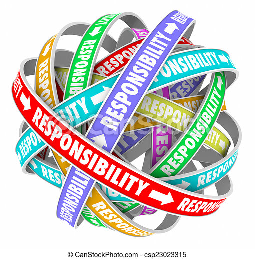 Clipart of Responsibility Word Delegating Passing Off Jobs ...