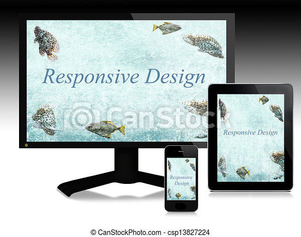 Responsive design, scalable websites - csp13827224