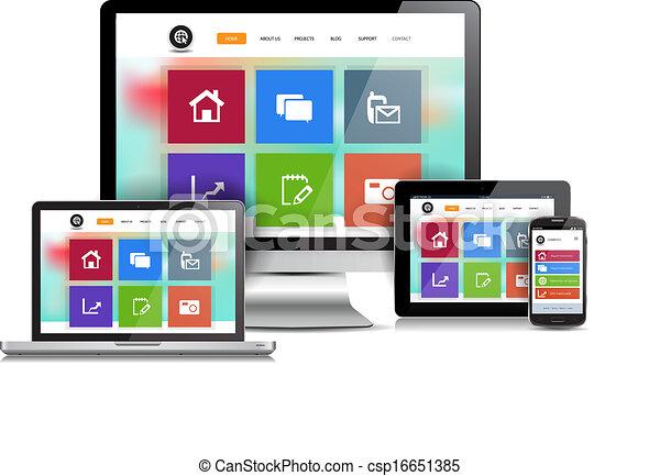 Responsive Design Website - csp16651385