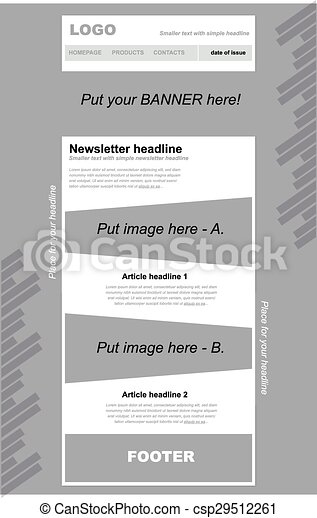 responsive newsletter template for business or non profit clip