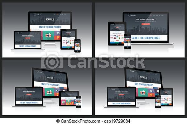 Responsive Screen Mockup - csp19729084