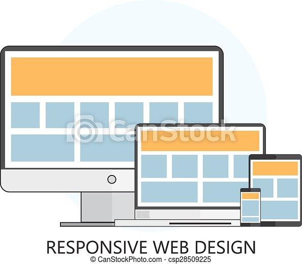 Responsive Web Design Icon - csp28509225