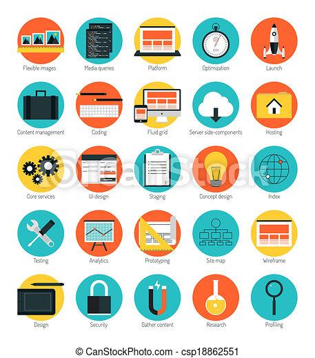 Responsive web design icons set - csp18862551