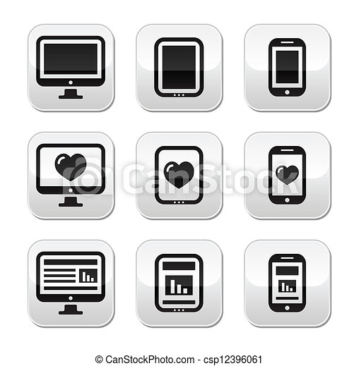 Responsive website design buttons - csp12396061