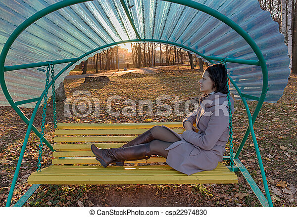 rest on a bench - csp22974830