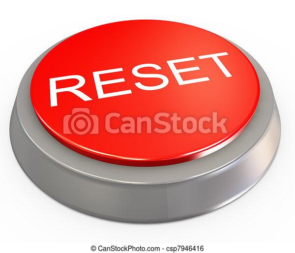 3d botón de reinicio - csp7946416