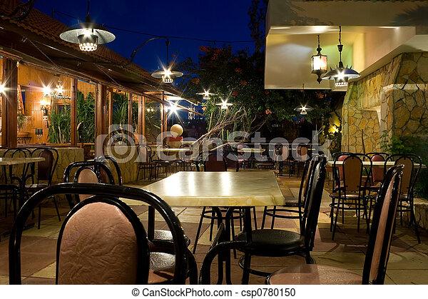 restaurang, natt - csp0780150
